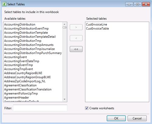 Name and Id of tables dynamics ax 2012  Microsoft