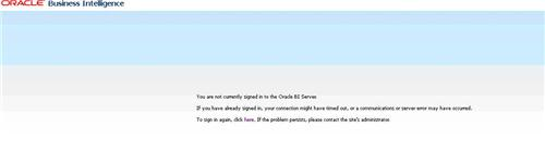 Issue: OBIEE Analytics: Unable to login to OBIEE 11G